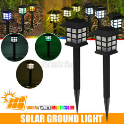 2x Outdoor LED Solar Light Garden Yard Patio Ground Lawn Decor Lamp Waterproof