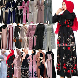 Abaya Kaftan Dubai Open Long Maxi Dress Muslim Women Kimono Cardigan Party Gown C $58.95