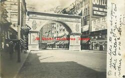 RI Providence Rhode Island RPPC Old Home Week Arch 1908 PM Photo $29.99
