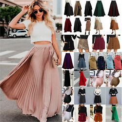 Womens Short Skirt Pleated Maxi Bodycon Party Business Office Dresses Holiday $12.69