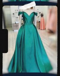 dress women party long elegant green $350.00