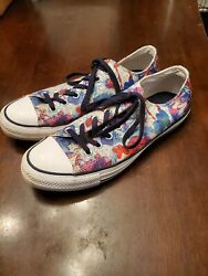 Converse Chuck Taylor All Star Size 10 Floral Pattern Low Top Very Clean $25.00