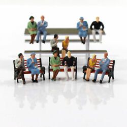 24pcs Model Railway O scale Seated Figures 1:50 Sitting People 6 Different Poses $11.99