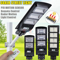 Commercial LED Solar Street Light Spotlight Dusk to Dawn Road LampPole 950000LM