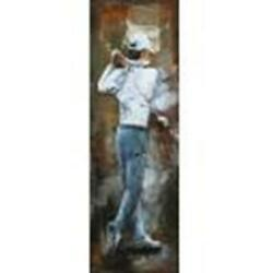 Golfer 3 D Oil Painting Wall Decor Metal And Wood Canvas Home Office Decoration $199.00