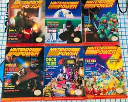 Nintendo Power Issues 456789 entire Year 1989 Early Issues $149.99