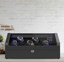 ArticScorpion Automatic Watch Winder for 12 Watches With LED Carbon Look New ✅ $275.00