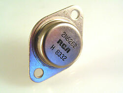 RCA 2N6262 Transistor Silicon NPN Power 170V 10A 150W TO3 Steel Package OMA081 $14.72