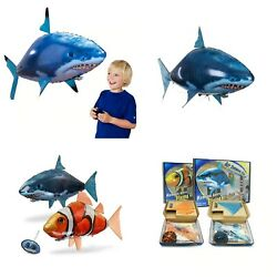Remote Control Shark Toys Air Swimming Fish RC Animal Infrared Fly Air Balloons $25.35