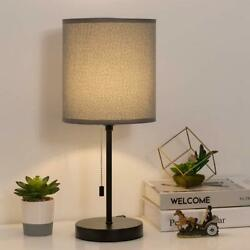 Bedside Table Lamp Small Desk Lamp Pull Chain Switch Beside Nightstand Lamp $21.99