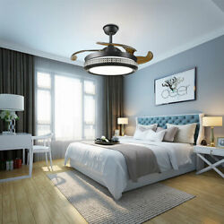 42#x27;#x27; Ceiling Dimmable LED Light Lamp Stealth Fan Chandelier Room Remote Control $128.00