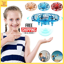 Small Drone Toys Mini Helicopter UFO RC Drone Infraed Hand Sensing For Children $13.99