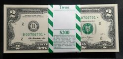 2013 $2 NY Star Low Serial Notes $2 FRN Star 100 in Sequence BEP Star Pack ☆☆☆ $654.32