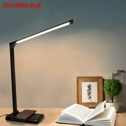 Led Desk Lamps USB Eye Protection Table Lamp 5 Dimable Level Touch Night Light $52.99