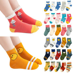 1 Pair Kids Girls Boys Socks Cute Pattern School Socks Cartoon Child Comfy Socks $6.64