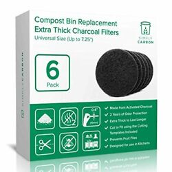 Supply Extra Thick Filters for Kitchen Compost Bins 2 Years Longer Lasting Best $24.06