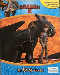 Dreamworks HOW TO TRAIN YOUR DRAGON 2 My Busy Book Figurines Included FREE SHIP $17.99
