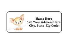 30 CHIHUAHUA DOG PERSONALIZED RETURN ADDRESS LABELS 1 in X 2.625 in $2.75