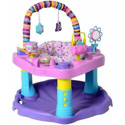 Evenflo Exersaucer Bounce And Learn Sweet Tea Party 3 Position Height Adjustment $74.91