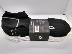 Head Sports Men Socks 10 Pairs Pack No Show Assorted Colors Shoe Size 6 12 $12.99