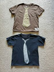 TWO 2 Boys#x27; Novelty Tie Print Cotton T Shirts Size 8 $5.00