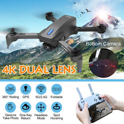 4K 5Ghz Foldable RC Drone HD Camera Dual Lens GPS Wifi FPV Selfie Quadcopter USA $61.27