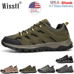 Mens Trekking Trail Shoes Work Waterproof Mesh Breathable Outdoor Hiking Boots $29.99
