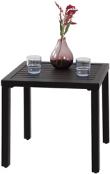 Indoor Outdoor Small Metal Square Side End Table Black $90.57