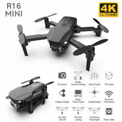 Mini UAV 4K Profesional Foldable Drone HD Camera Built in Wifi APP Connect FPV $30.59