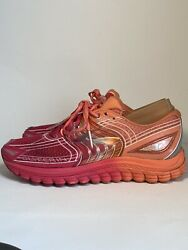 BROOKS Glycerin 12 Women#x27;s Running Athletic Shoes SIZE 7.5 Orange Pink Sneakers $39.00
