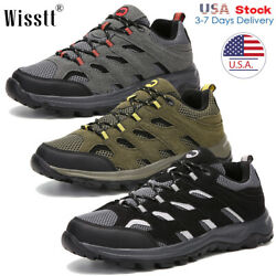Mens Outdoor Trekking Trail Shoes Hiking Boots Breathable Work Waterproof Size $26.75