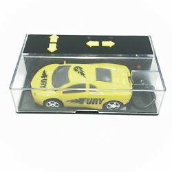 RC Pocket Racers Remote Control Rechargeable Micro Race Cars Yellow Fury $16.95