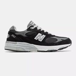 NWB New Balance Mens Made in US 993 Black Size 8 to 11 Free Shipping