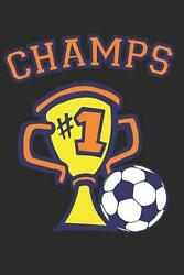 Champs: 6 X9 Notebook Karo squared Paper As a Gift Soccer Fans Great Gift Ma $12.03