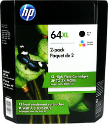 HP #64XL Black and Color Combo New in Box X4D93BN $74.99