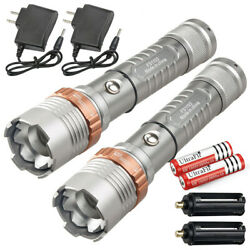 Tactical Police 900000LM T6 LED 5Modes Rechargeable Flashlight Torch Zoomable US $19.99