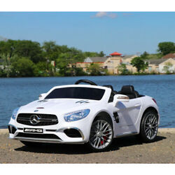 First Drive Mercedes Benz SL Kids Electric Ride On Car w Remote Control White $227.99