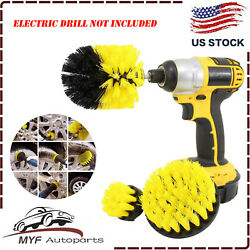 3pcs Drill Brushes Set Tile Grout Power Scrubber Cleaner Spin Tub Shower Wall US $8.29