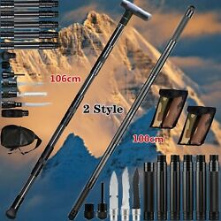 Tactical Survival Walking Trekking Poles Multifunction Alpenstock Portable Stick $67.99