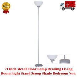 71 Inch Metal Floor Lamp Reading Living Room Light Stand Scoop Shade Bedroom New $12.29