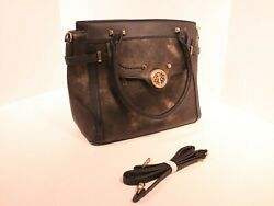 Woman designer Black Gold Distress Double handle shoulder strap A29