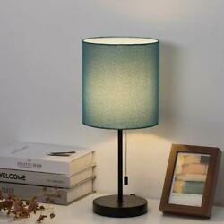 Modern Table Lamp Simple Desk Lamp Pull Chain Switch Beside Nightstand Lamp Gift $21.99