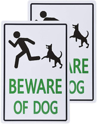 dojune 2 Pack Beware of Dog Sign Rustic Decor $14.01