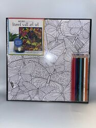 "Art 101 Gallery Framed Wall Art Set 12"" X 12"" With Color Pencils $14.89"