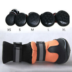 4Pcs Pet Dogs Boots Waterproof Anti Slip Rain Shoes Puppy Paw Protective Booties $9.97
