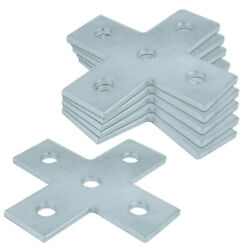 6 Packs 5 Hole Flat Fitting Cross Plate Tie Fit for ½quot; Bolt in 1½quot; Strut Channel $25.99