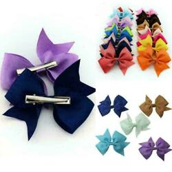 20 Colors New Alligator Clips Girls Bow Ribbon Kids Sides Accessories Beauty $7.79