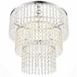 Luxurious K9 Crystal Chandelier with 3 Circle Octagon Shape Crystal Lighting $176.71