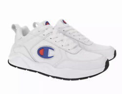 Champion Size 9.5 93 EIGHTEEN White Leather Sneakers CPS10252M New Men#x27;s Shoes. $48.00
