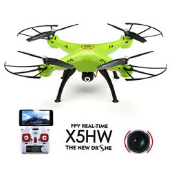 X5HW WIFI FPV 2.4G 4CH 6Axis RC Quadcopter Drone RTF With 0.3MP HD Camera ✔US $51.10